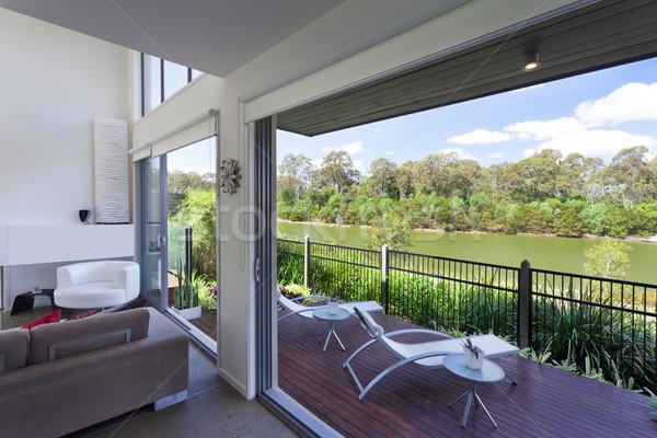 Modern nappali ausztrál fa fény űr Stock fotó © epstock