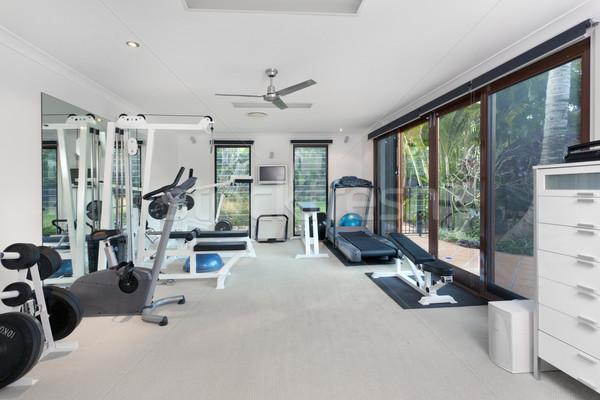 спортзал роскошь домой фитнес окна отель Сток-фото © epstock