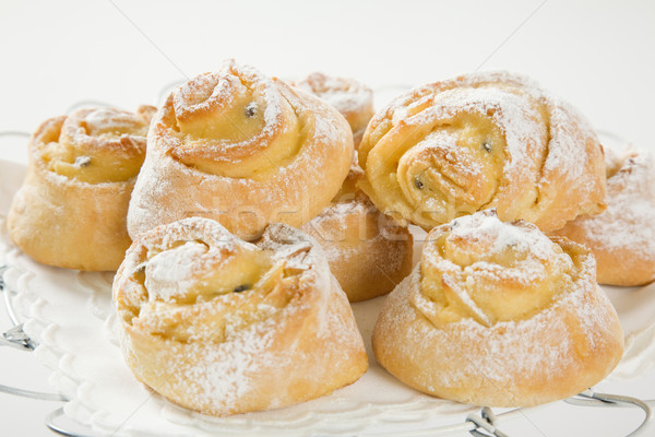 sweet Savoury buns with white icing Stock photo © epstock