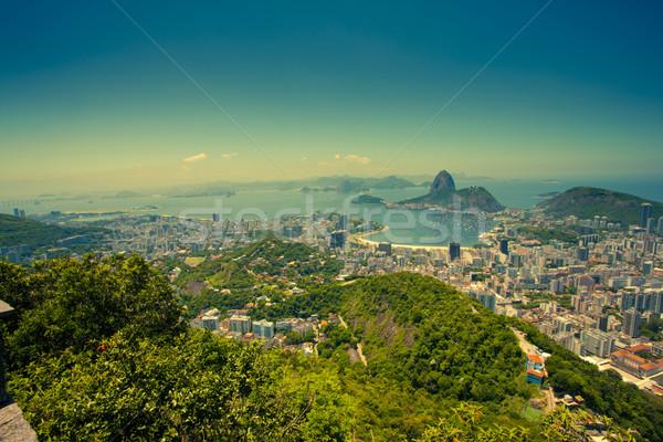 Rio de Janeiro Brazília hegy hegyek ünnep turista Stock fotó © epstock