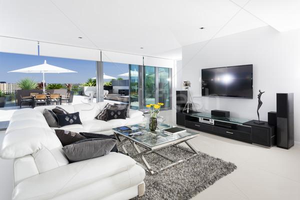 Living room and balcony Stock photo © epstock