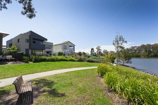 Moderna australiano casa dos frente parque Foto stock © epstock