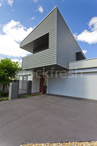 Modern house front Stock photo © epstock