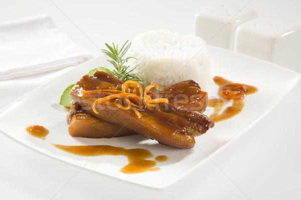 Narancs whiskey disznóhús fölösleges borda barbecue Stock fotó © epstock