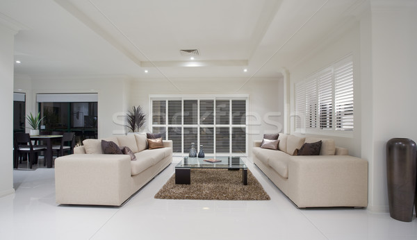 Stock photo: Luxury home living room interior