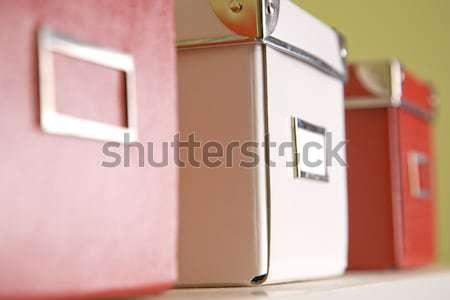 Kurumsal arşiv kutuları raf Stok fotoğraf © epstock
