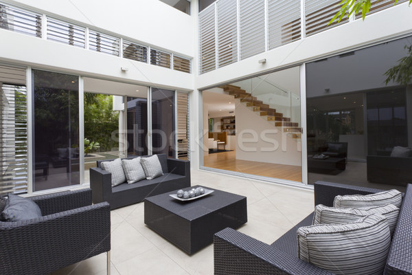 Photo stock: Maison · intérieur · luxe · extérieur · fenêtre