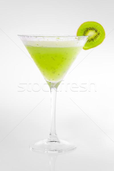 Groene kiwi cocktail bar Stockfoto © epstock