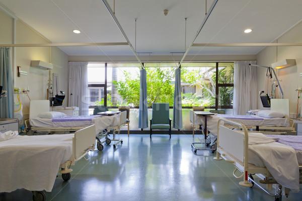 Foto stock: Hospital · equipos · médicos · salud · cama · cortina · enfermos