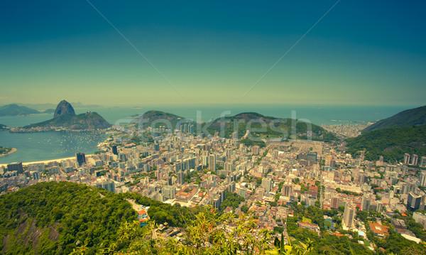 Foto stock: Rio · de · Janeiro · Brasil · montanha · montanhas · férias · turista