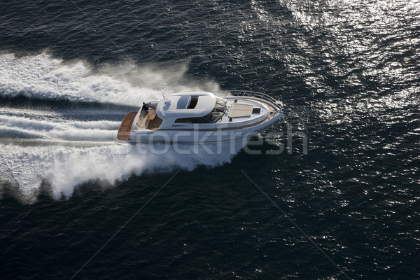 Yacht sailing in the sea Stock photo © epstock
