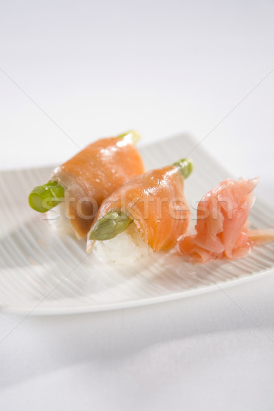 Salmon Sushi plate Stock photo © epstock