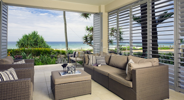 beautiful waterfront suite with ocean views Stock photo © epstock
