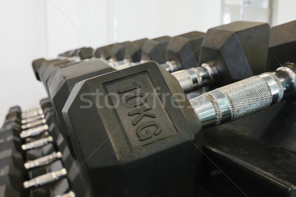 Rack fitness hotel acero Foto stock © epstock