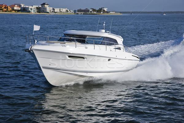 エレガントな ボート セーリング 海岸 画像 小 ストックフォト © epstock