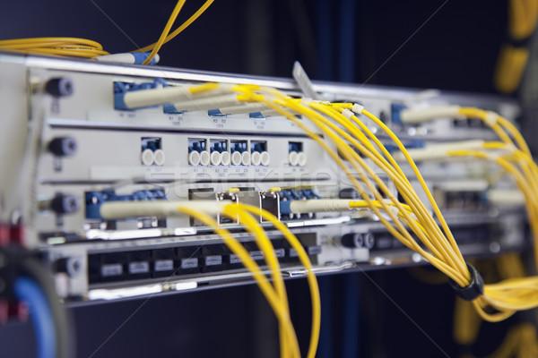 Stok fotoğraf: Ağ · değiştirmek · sarı · kablolar · Sunucu
