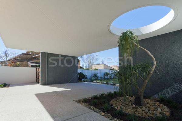 ストックフォト: 入り口 · 邸宅 · 現代 · オーストラリア人 · 家 · フロント