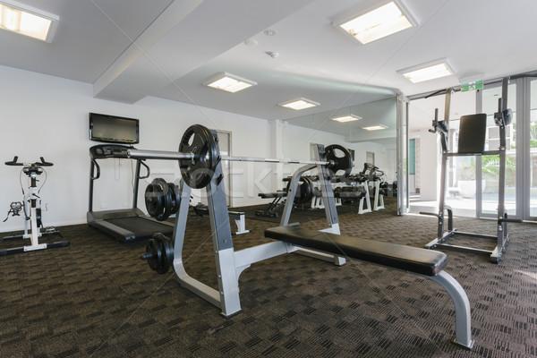 Moderna gimnasio interior fitness hotel Foto stock © epstock
