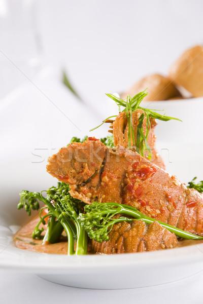 омаров брокколи еды приготовления Азии есть Сток-фото © epstock