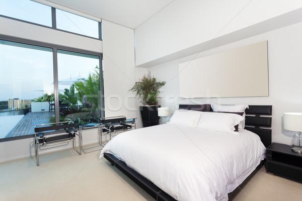 Moderno camera da letto lusso appartamento casa hotel Foto d'archivio © epstock