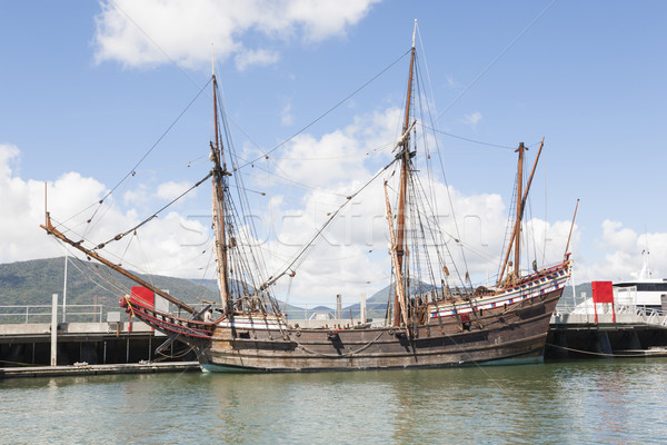 Old wooden sail ship Stock photo © epstock