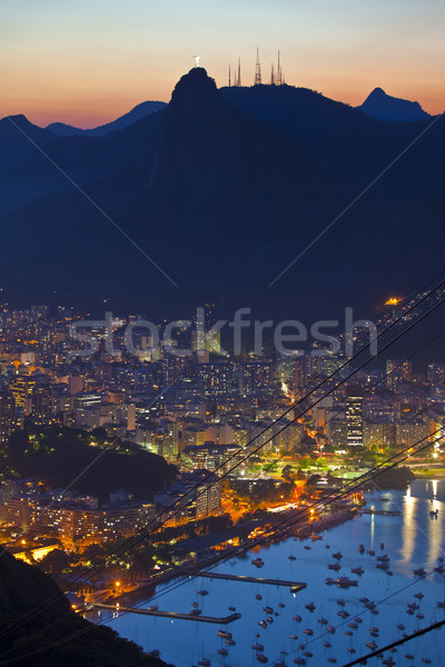 Gece Rio de Janeiro Brezilya şeker somun dağ Stok fotoğraf © epstock