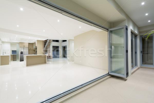 Moderno branco cozinha novo luxuoso casa Foto stock © epstock