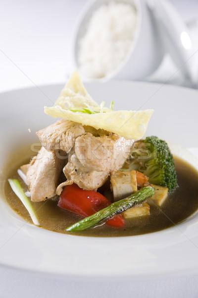 Asian brodo di pollo alimentare pollo mangiare cottura Foto d'archivio © epstock