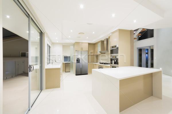 ストックフォト: 現代 · 白 · キッチン · 新しい · 豪華な · ホーム