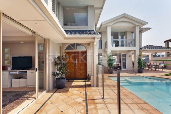 entrance to luxurious australian mansion Stock photo © epstock