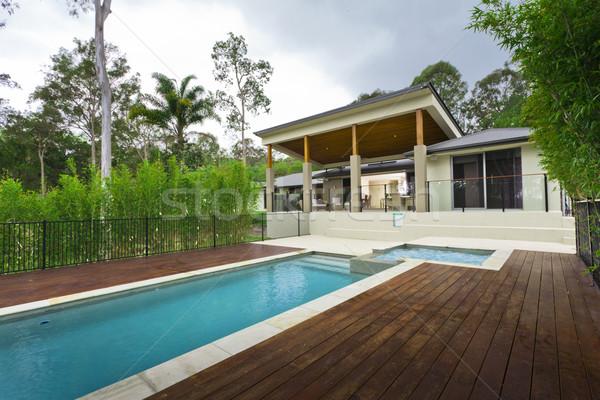 Stockfoto: Moderne · zwembad · zwembad · outdoor