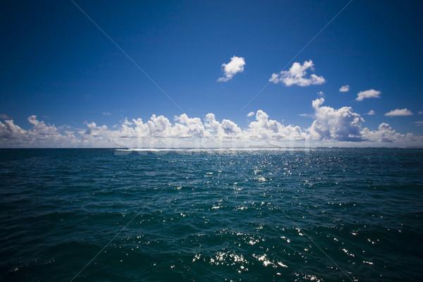 horizon with clouds at sea Stock photo © epstock