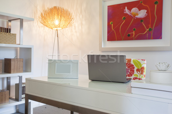 Home Office in modern townhouse Stock photo © epstock