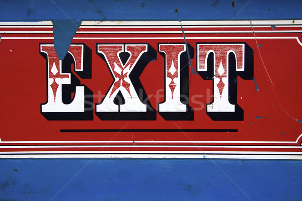 Carnival exit sign Stock photo © erbephoto