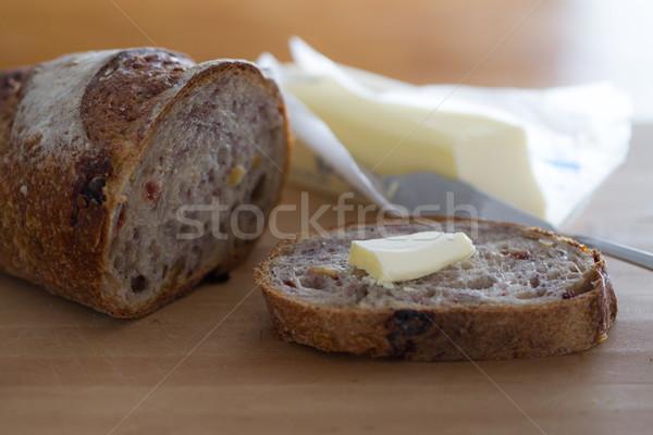 Walnoot vers brood boter Stockfoto © erbephoto