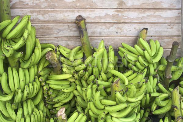 Bananen vers vruchten groene markt Stockfoto © erbephoto