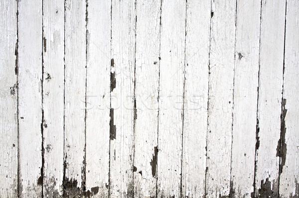 Verf houten hek Stockfoto © erbephoto