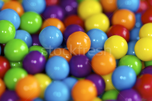 Brightly colored candy balls Stock photo © erbephoto