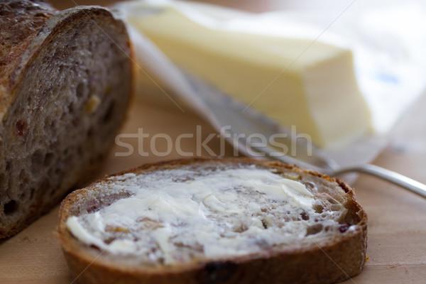 Walnoot brood plakje Stockfoto © erbephoto