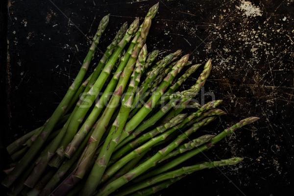 Asperges ruw donkere voedsel groenten koken Stockfoto © erbephoto