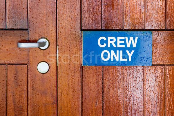 Geen beschrijving hout teken schip nat Stockfoto © erbephoto