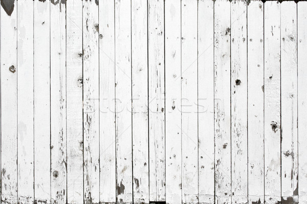 Biały ogrodzenia drewna farby tle Zdjęcia stock © erbephoto
