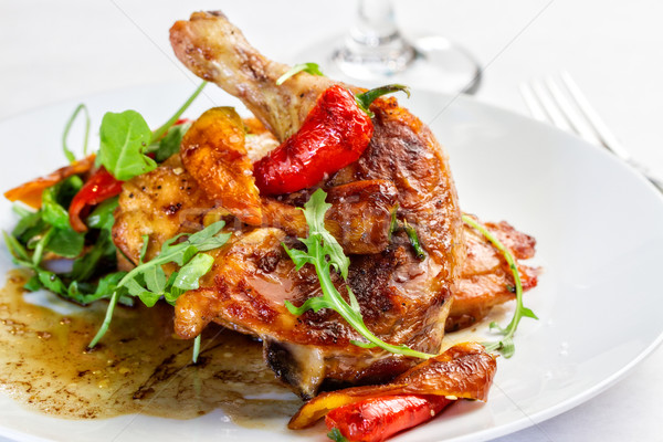Chicken and Chilis Stock photo © erbephoto