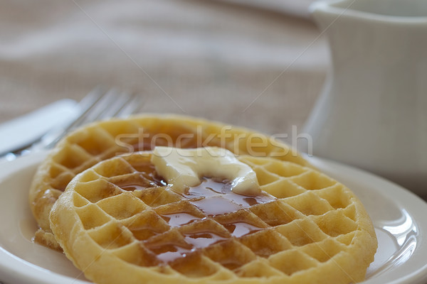 Twee boter siroop voedsel keuken dining Stockfoto © erbephoto