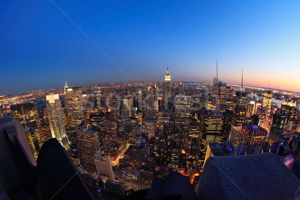 Lower Manhattan at dusk Stock photo © ErickN