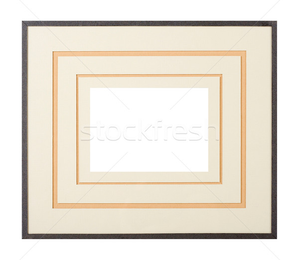 Dark grey picture frame with matte Stock photo © ErickN