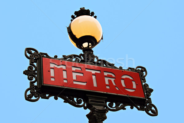 Parisian metro sign Stock photo © ErickN