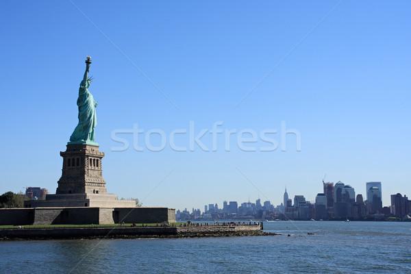 Stok fotoğraf: Heykel · özgürlük · bayan · ada · Manhattan · New · York