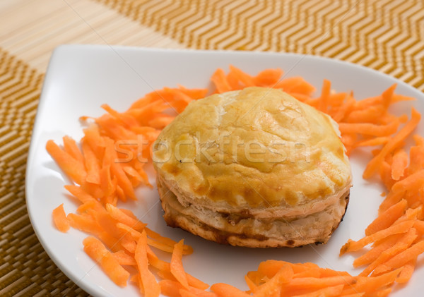 Meat pie and carrots Stock photo © ErickN