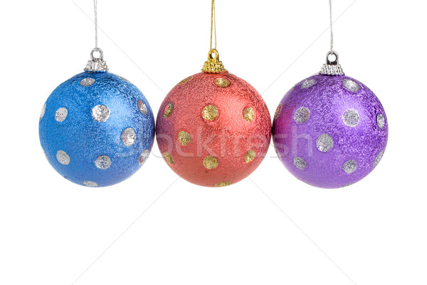 Stockfoto: Drie · christmas · rij · familie · partij